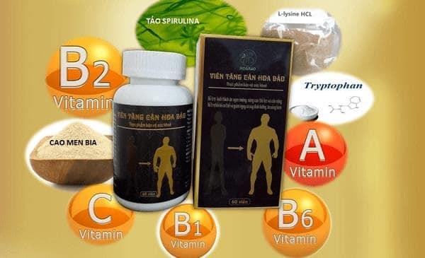 Viên uống tăng cân Hoa Bảo với những thành dược liệu thiên nhiên.