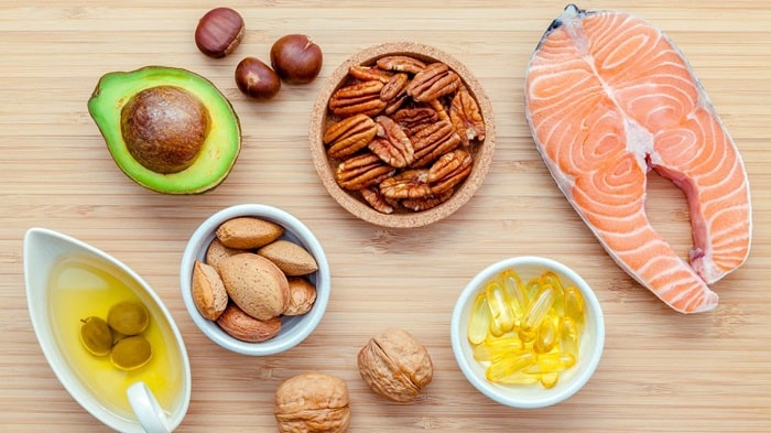 Thực phẩm chứa chất béo tốt.