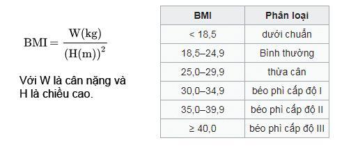 BMI chỉ số khối cơ thể chính xác