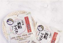 mặt nạ bã rượu sake