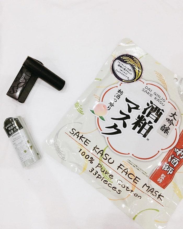 mặt nạ bã rượu sake kasu face mask