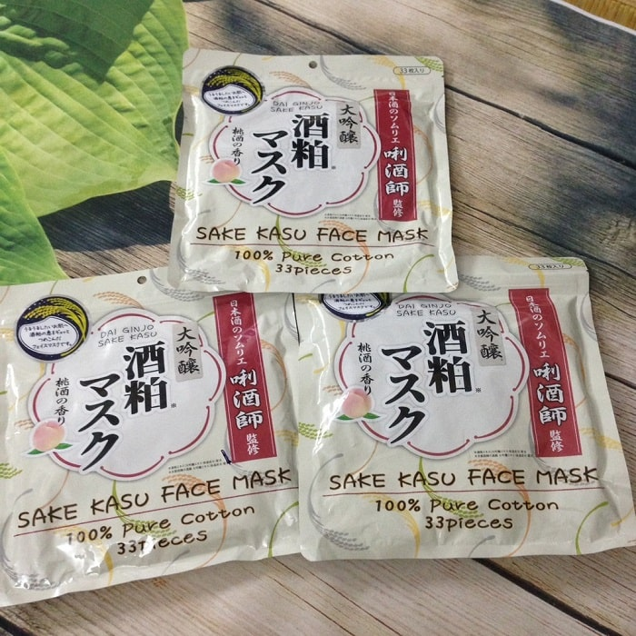 mặt nạ bã rượu sake review