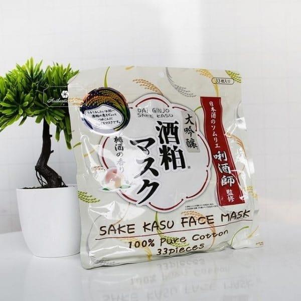 mặt nạ rượu sake kasu