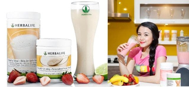 thực đơn ăn giảm cân với herbalife