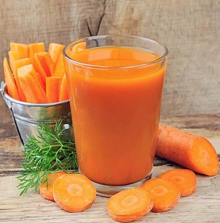 Nước ép cà rốt.