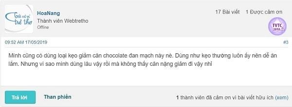 kẹo socola giảm cân đan mạch giá bao nhiêu