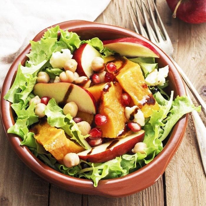 thực đơn giảm cân với salad