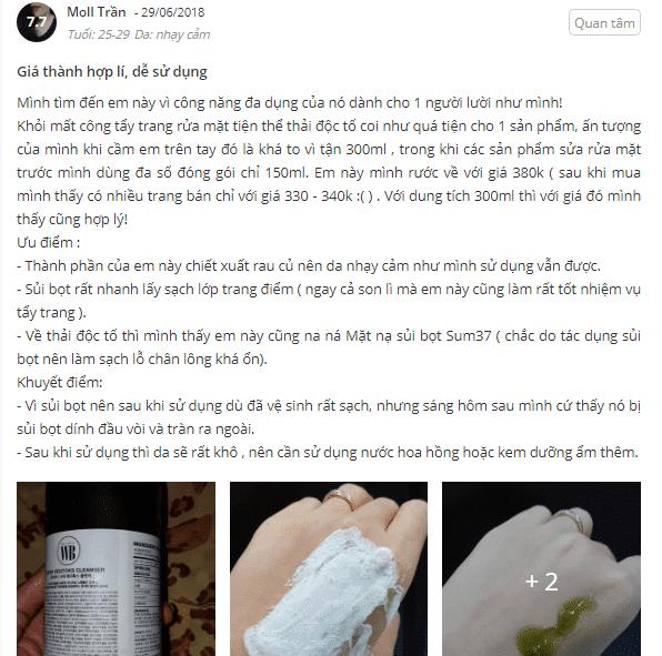 sữa rửa mặt rau củ giá bao nhiêu