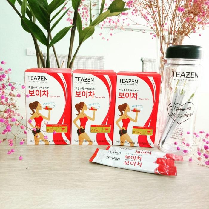 trà giảm cân hàn quốc teazen
