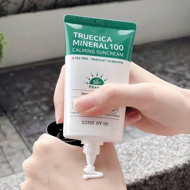 some by mi truecica mineral 100 calming suncream 50ml