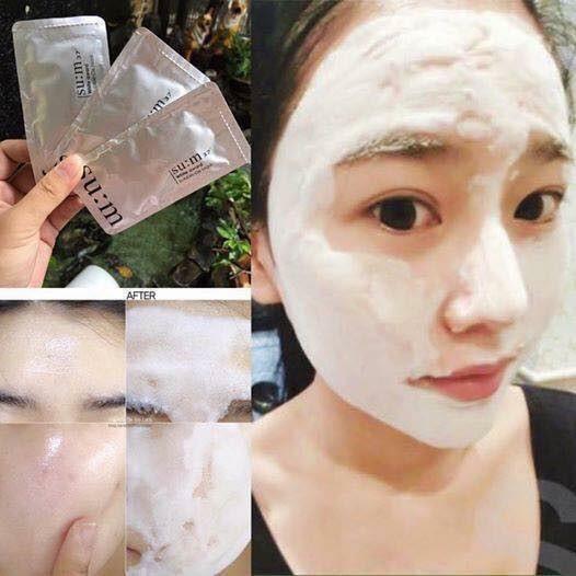 cách sử dụng mặt nạ thải độc sum trắng