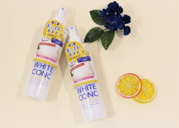 review sữa tắm white conc