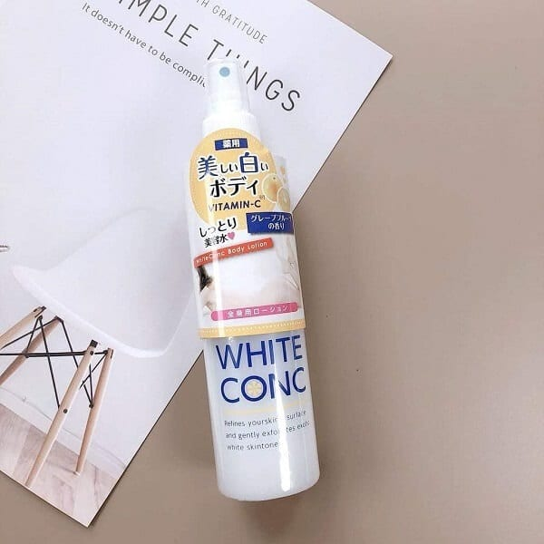 white concbody lotion
