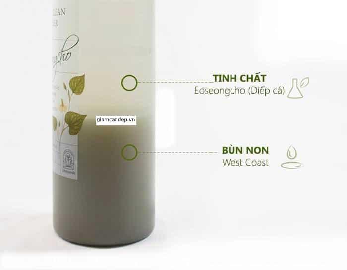 mamonde pore clean toneringredients