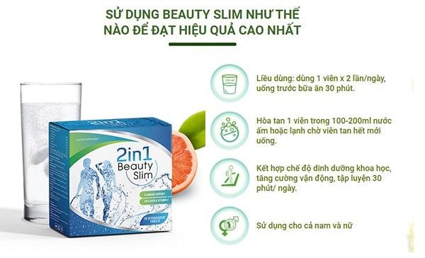 Viên sủi giảm cân Beauty Slim đơn giản, dễ uống.