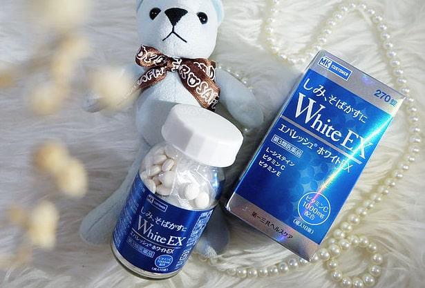 viên uống trắng da white