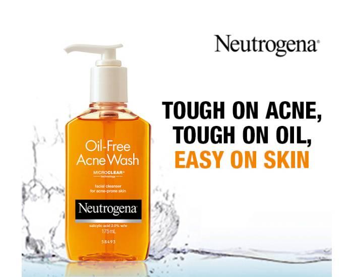 sữa rửa mặt neutrogena oil-free acne washreview