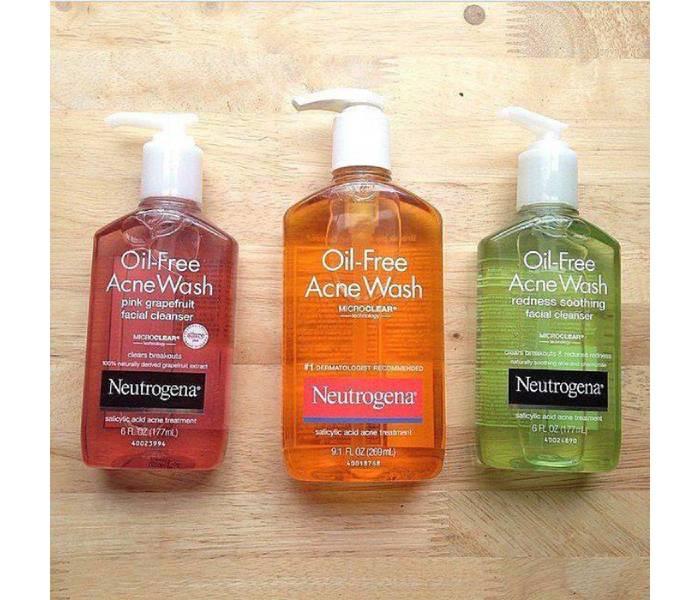 sữa rửa mặt neutrogena oil-free acne wash269ml
