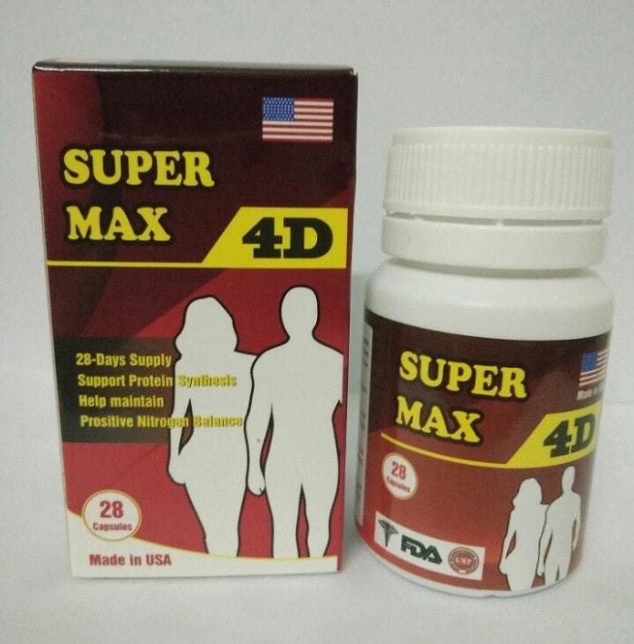 Thuốc tăng cân tốt nhất 2019 Super Max 4D.
