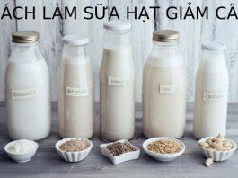 sữa hạt giảm cân