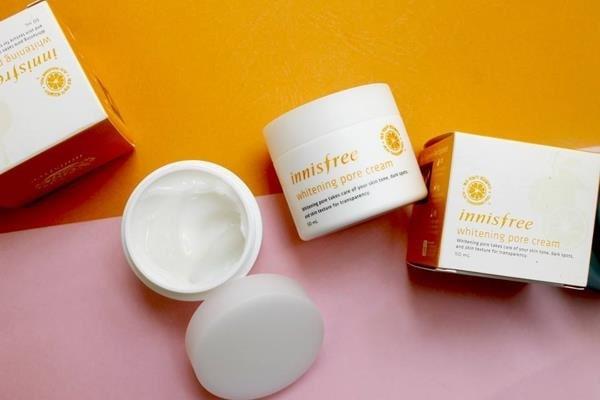 kem dưỡnginnisfree whitening pore cream