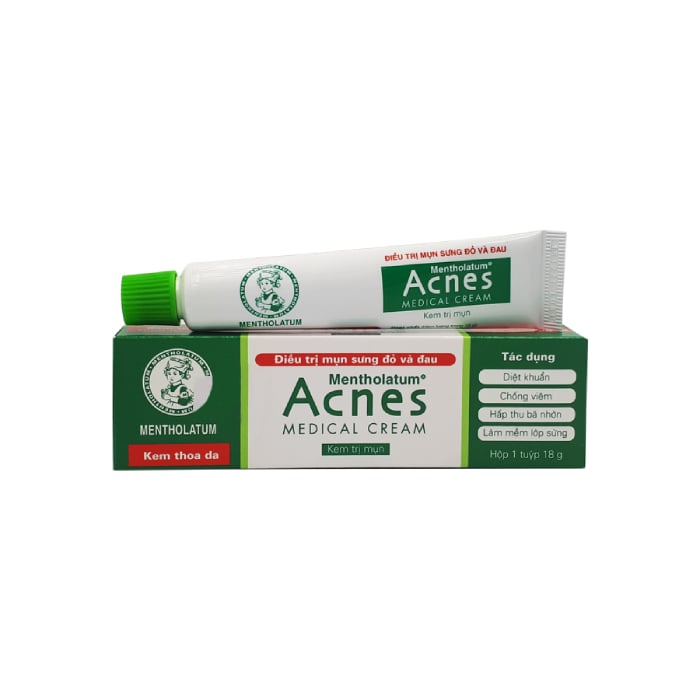 trọn bộ sản phẩm trị mụn acnes