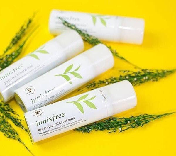 xịt khoáng trà xanhinnisfree green tea mineral mist 150ml