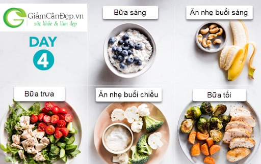 thực đơn ăn kiêng giảm cân trong 1 tháng