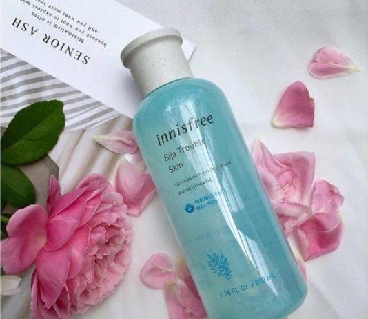 Review nước hoa hồng Innisfree Bija Trouble Skin Toner làm sạch sâu cho da