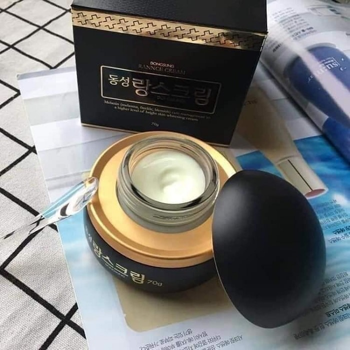 kem trị nám dongsung rannce cream review